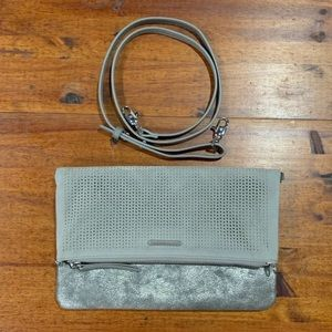 stella & dot waverly clutch gray